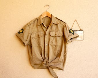 Vintage US Military-Style Scout BDU Fatigue | Size Small