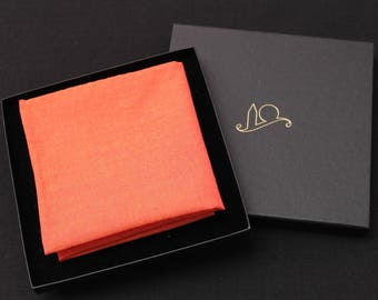 Orange Organic Cotton Pocket Square