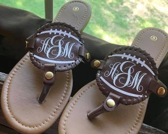 Personalized Football Sandals!