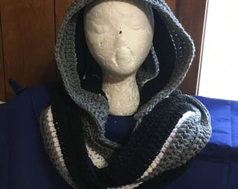 Hooded Scarf, warm fall winter scarf,