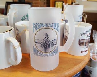 FOREVER Newfound Lake Loon Island Coffee Mug, Frosted Mug, Mason Jar