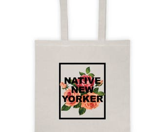 Native New Yorker- Floral Tote Bag