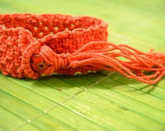 Hemp macrame bracelet