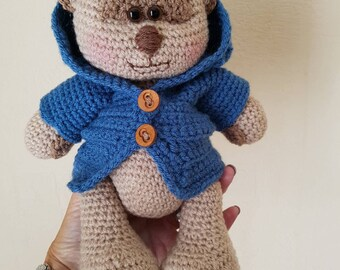 Hand Crocheted Amigurumi soft toy Teddy bear