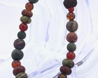 Gorgeous Lava Bead Bracelet