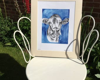 Lucinda the Cow Print