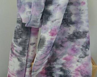 Silk Scarf, Long Scarf, Handmade Silk Scarf,  Handmade scarves, Hand Painted scarves,