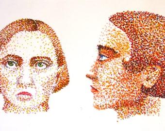 Pointillist portraits