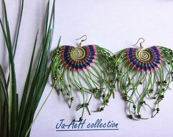 Macrame boho  earrings