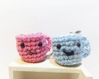 Cute Coffee mugs and milk amigurumi / Amigurumi mugs