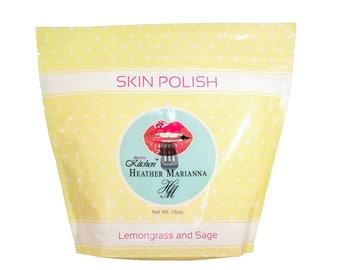 Lemongrass and Sage All-Natural Skin Polish Body Scrub (4oz)