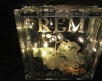 Etched Glass block banks