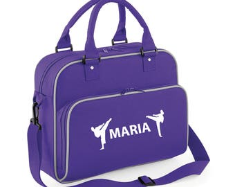 iLeisure Girls Personalised Name Taekwondo Kit Bag.