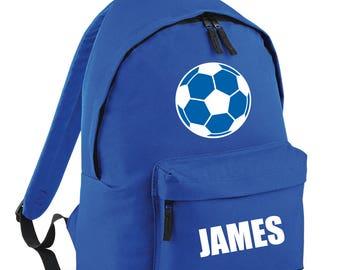 iLeisure Boys/Girls Name and Football Printed School Back Pack, Rucksack