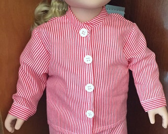 "Striped Pajamas for 18"" Doll"