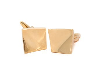 de MORÉ - sweeping cuff links in gold