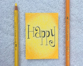 Original Art Card - Happy