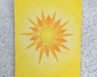 Original Art Card - The Sun