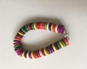 Colorful Cross Bracelet