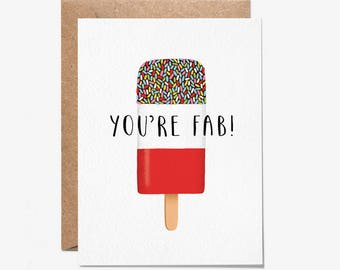 You're Fab! - Greeting Card - Folio - Birthday Card - thisisfolio - Stationery