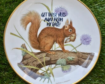 Get Those Nuts Away From My Face! Latrice Royale themed decorative plate / dish. RPDR RuPaul's Drag Race quote queen squirrel humour kitsch