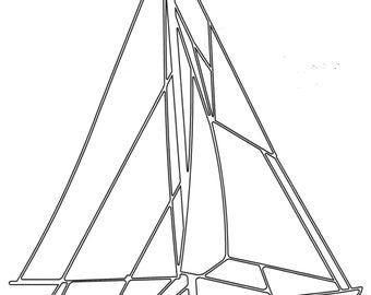 Wireart America's Cup Sailboat