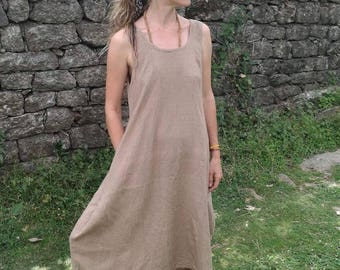 "pure raw silk dress ""vastness"""