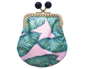 Clip purse / / Palm tropical