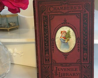 """Chambers's juvenile library """"True heroism"""". vintage children's book 1880s"""