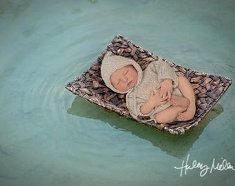 Floating Along Newborn Digital Backdrop/Background River Water Photography Prop