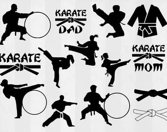 Karate SVG Bundle, Karate clipart, Karate cut files, Karate svg files for silhouette, files for cricut, svg, dxf, eps, cuttable design