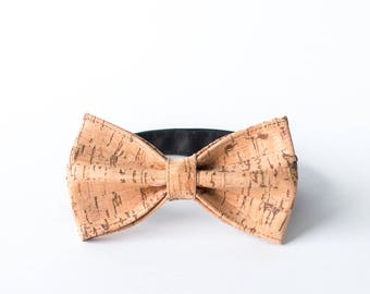 The Corky Bow Tie | Cork Bowtie | Vegan Leather Bow | Cork Fabric | Minimalistic Design | Men's Fashion | Handmade in Finland by Sandramaria