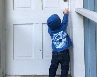 Hand-dyed Indigo Hoodie; Baby Boy Hoodie; Baby Girl Hoodie; Unisex Baby Hoodie