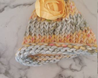 Beautiful Blossom Girl Baby Hat