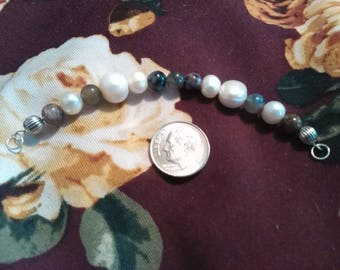 ON HOLD - Do Not Purchase! OOAK Gemstone Magic Charm Bracelet - Charoite, Labradorite, Pearl
