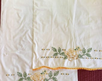 Vintage Embroidered Pillowcases