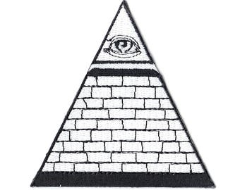 Dollar Bill The Seeing Eye Pyramid Iron On Applique Patch