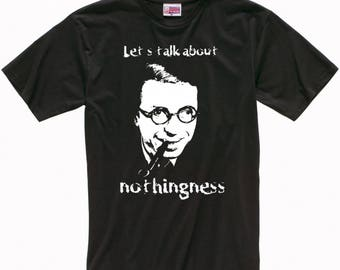 Jean-Paul Sartre Art Men's Women's T-shirt
