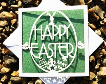 Easter Egg Card, Happy Easter, Easter Cards, Lasercut Easter Cards, Easter Gifts