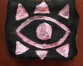 Light Pink Eye Fabric Pin