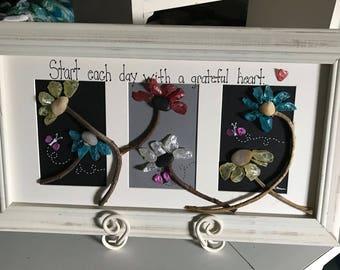 Flowers Pebble Art, Grateful rock Art, Inspirational art,