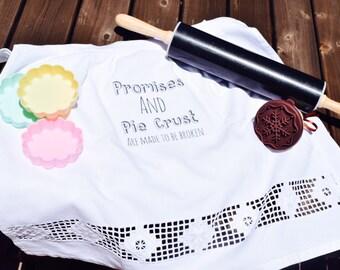 Promises & Pie Crust Vintage 1/2 Apron