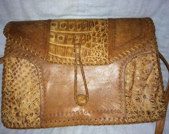Beautiful Leather And Aligator Bag