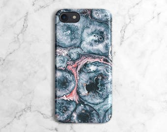 Mint Blue Marble Bubbles Print Phone Case for iPhone 6 / 6S / 6 Plus,  iPhone 7, iPhone 7 Plus, Samsung Galaxy S8 | DLC71