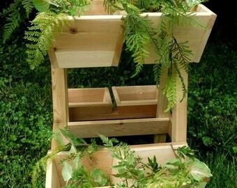 Cedar Planter , Outdoor Planter, Patio Planter , Planter Box , Cedar Vertical Planter , Garden Planter , Herb Planter