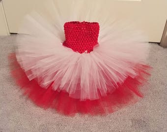 12-24m Canada day/ red and white tutu dress