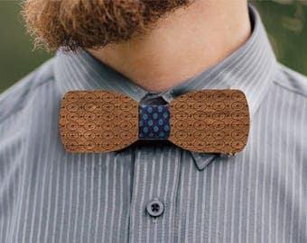 Weisshorn wooden bow tie