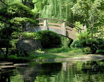 Monet Revisited- Japanese Gardens Bridge and Landscape fine art print