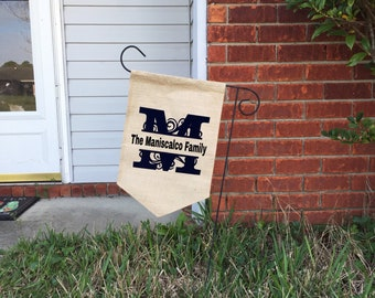 Personalized Lawn Flag, Monogram flag, Personalized gifts, Name Gift, Outdoor Home Decor, Garden Flag, Small Flag