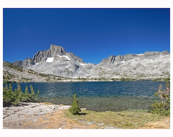 Thousand Island Lake in Inyo National Forest. Size 16 by 20. Mounted on ridged Gatorboard